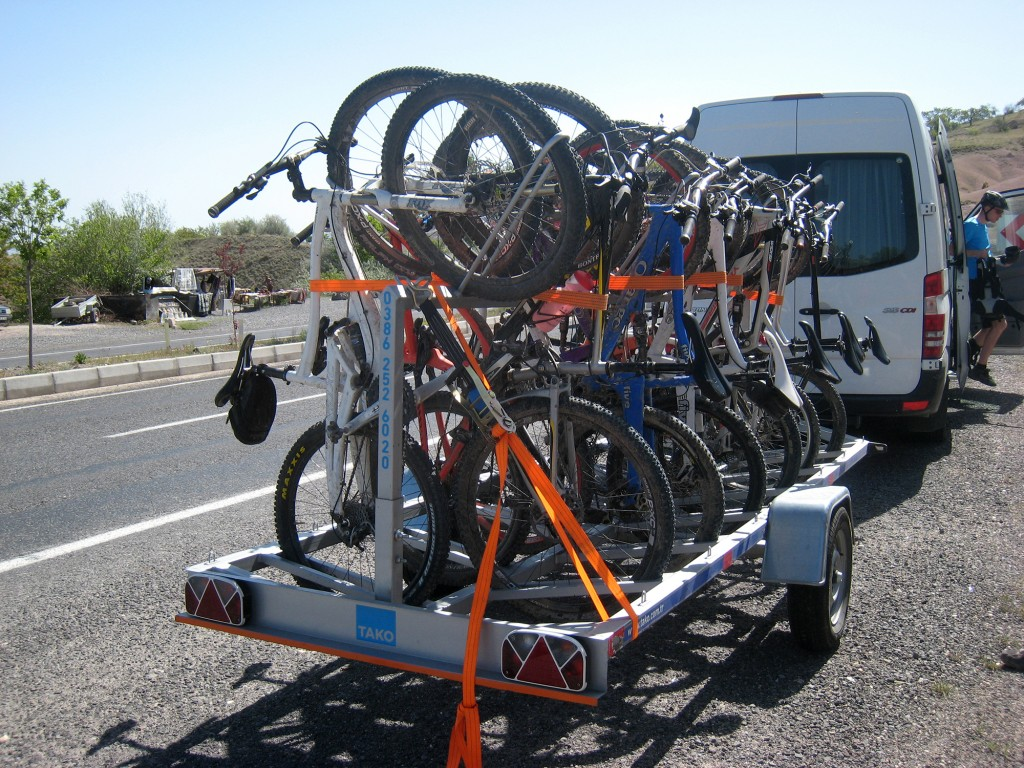 Biking in Turkey 12-Bike Trailer